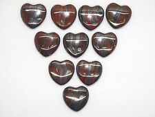 BULK  UNDRILLED  TIGER IRON  PUFFY  HEARTS  - 10 PC. LOT - BEST PRICE