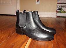 "NEW Womens COLE HAAN ""Landsman"" Black Leather Bootie Ankle Boots Size 9"