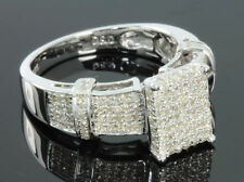 .63 CARAT WOMENS LADIES WHITE GOLD FINISH DIAMOND ENGAGEMENT BRIDAL WEDDING RING