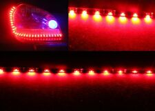 2 x Red 60CM 30SMD Side Glow Side-emitting Side Shine Flexible LED Strip Ligth
