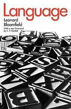 Language by Leonard Bloomfield (1984, Paperback)