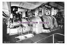 pu0940 - French CGT Liner - Normandie , built 1935 - photograph of Engine Room