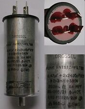 DROSSEL AC POWER LINE FILTER 250VAC 6A
