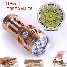 28000LM 11 x CREE XM-L T6 LED 4 18650 Lampe Chasse Brillant de poche Torche