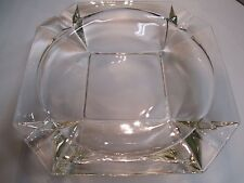 Vintage Cigarette Ashtray Glass Smoking Antique Tobacco Cigar 8 inch