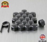 20 Car Bolts Alloy Wheel Nuts Covers 17mm Black For Saab Saab 9-3