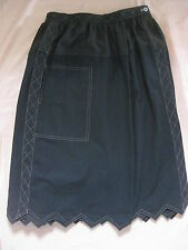 ISSEY MIYAKE  ISSEY SPORT BLACK SKIRT QUILTED Detailing VINTAGE