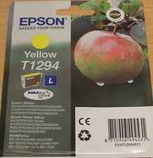 GENUINE EPSON T1294 Yellow ink cartridge vacuum sealed ORIGINAL OEM APPLE INK