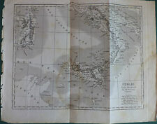 "1830 CIRCA ""CARTINA DELL'ITALIA MERIDIONALE"" INCISIONE SU ACCIAIO ORIGINALE"