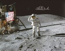 Charlie Duke Apollo 16 moonwalker NASA astronaut hand signed photo UACC RD 86