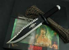 Rambo II First Blood 25th anniversary Survival Hunting Knives Bowie Knife 7FK361