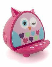 KitSound My Doodles Child Friendly Character Dock Wireless Bluetooth Speaker-Owl