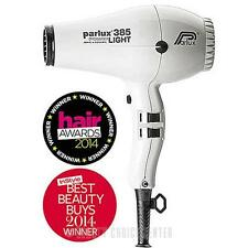Parlux 385 PowerLight Ionic and Ceramic Hair Dryer WHITE - built-in silencer