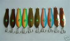 """10 NEW Assorted Spoon Metal Fishing Lure Bait Lot 3.75"""" hooks jig lures"""