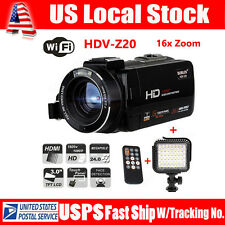 HDV-Z20 WiFi HD 1080P 24MP HDMI 16X Digital Video DV Camcorder Camera+ LED Light