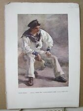 Vintage Print,STUDY FOR A BLUE JACKET,Water Colour Society,1804-1904