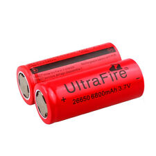 2*UltraFire 3.7V 6800mAh Rechargeable 26650 Li-ion Battery For Led Flashlight US
