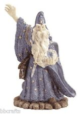 NEW IN BOX LARGE ALABASTRITE MERLIN WITH CRYSTAL BALL STATUE COLLECTIBLE