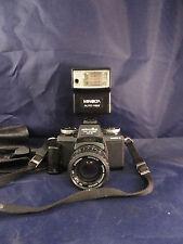 Minolta 110 Zoom SLR Mark II w/25-67mm 1:3.5 Lens & Minolta Auto 118X Flash