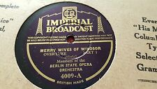 BERLIN STATE OPERA ORCHESTRA MERRY WIVES OF WINDSOR IMPERIAL BROADCAST 4009