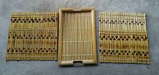 Tropical bamboo wood tray serving coastal island decor 4 Table mats Free Ship