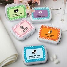 50 Personalized Mint Tin Wedding Shower Party Gift Favors