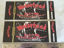 Lemmy Motorhead Music album Tour promo pair of Concert tickets