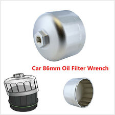 Aluminum Cartridge Style Oil Filter Wrench Filter Housing Cap for BMW Volvo 86mm