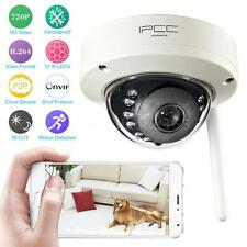 720P IR-Cut Night Vision Vandalproof Outdoor P2P Wifi IP Camera Security US Plug