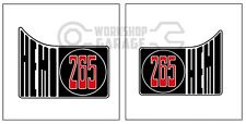HEMI CHRYSLER VALIANT - Badge Style Stickers - HEMI 265 QUARTER standard  #11