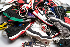 (5KC) 5 PCS Air Jordan Sneaker KeyChain Yeezy Bred Fire Red Air Mag Space Jam
