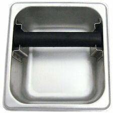 "Commercial Grade Stainless Steel Espresso Knock Box 7"" x 6.5"" Barista Coffee"
