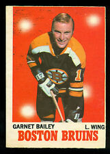 1970 71 OPC O PEE CHEE #10 GARNET BAILEY RC VG-EX BOSTON BRUINS HOCKEY ROOKIE