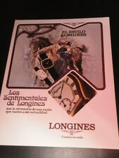 LONGINES   WATCHES  AD PUBLICITE ANUNCIO - SPANISH - 0518
