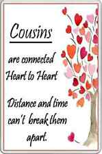 fridge magnet family COUSINS gift to show you care Love bonds picture with verse