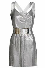Versace for H&M Silver Chain-mail Dress Size 12 Xmas party BNWT