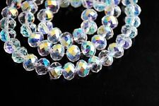 Wholesale Glass Crystal Faceted Rondelle Spacer Loose Beads 6mm/8mm/10mm/12mm