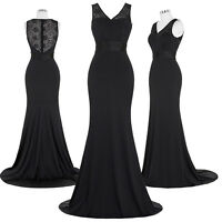 Sexy Women Ladies Gown Long Dresses Prom Evening Party Formal Bridesmaid Wedding