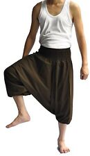 Thai Fisherman Pants Mens Yoga Boho Aladdin Alibaba Harem Pants Brown shorts