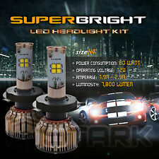 LED 80W 7800LM LED Kit CREE XT-E 6000K Headlight Dual Hi Lo Bulbs - H4 HB2 9003