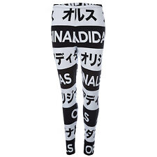 Womens adidas Originals Womens Typo Leggings in Black-White - 6