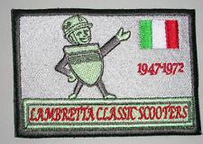 Nouveau brodé tissu badge-lambretta 50 ans -- scooter -- gris-advertising