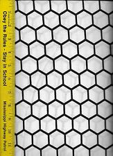 QUILT FABRIC: 100% COTTON, WHITE HONEYCOMB, By The Yard