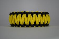 550 Paracord Survival Bracelet King Cobra Black/Yellow Camping Tactical Military
