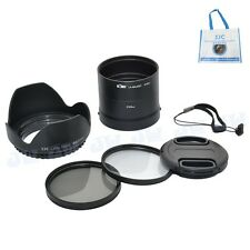 62mm UV&CPL FILTER+LENS ADAPTER+LENS HOOD CAP FOR NIKON COOLPIX L820 L830