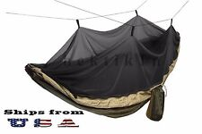 Double Outdoor Parachute Nylon Hammock with Mosquito Net