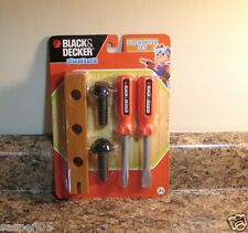 Boys PRETEND TOOLS Black and Decker Junior Tool Set Screwdriver Set  NEW