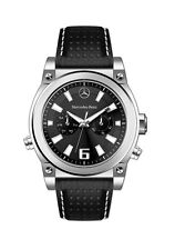 Mercedes Benz Men's Perforated Leather Chronograph Dial Watch
