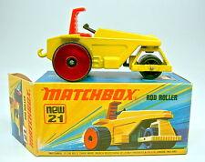Matchbox SF Nr.21B Rod Roller rare metallicrote Heckrollen top in Box