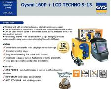 GYS LCD TECHNO HELMET + 160A WELDING UNIT 6KW INVERTER TECHNOLOGY 4.2KG PORTABLE